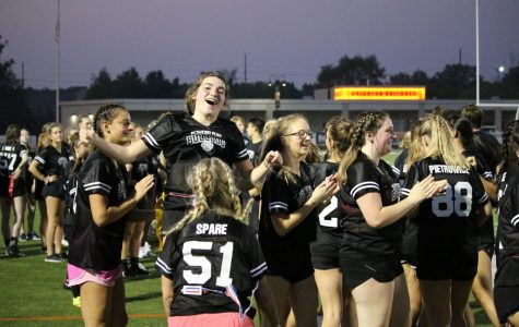 Powder puff football game kicks off Pink Week