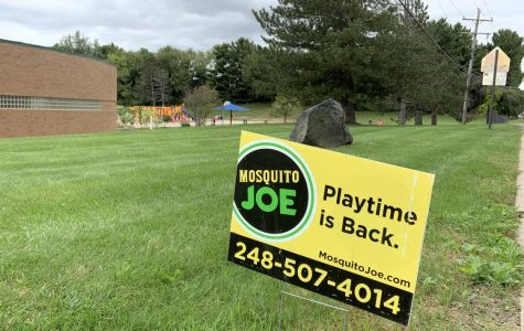Brighton Area Schools hired Mosquito Joe to spray for mosquitoes in response to the Health Department call to reduce the risk of EEE exposure to area residents.